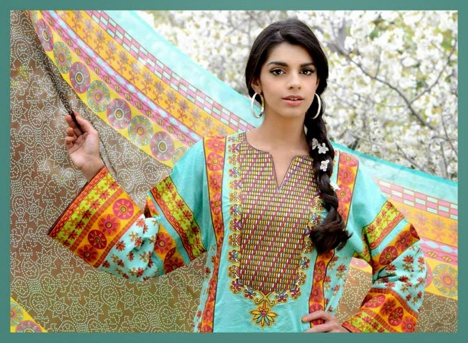 WardaSaleemLawn2014ByShariqTextile wwwfashionhuntworldblogspot 5  - Warda Saleem Lawn Collection 2014 By Shariq Textile