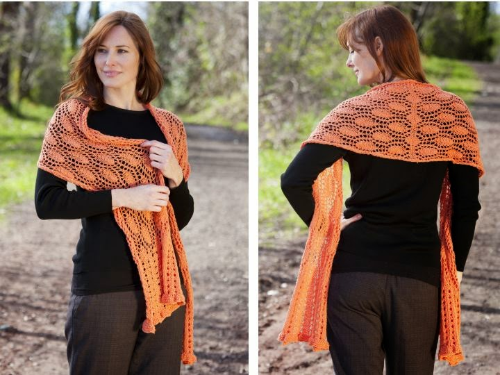 FREE PATTERN: Eloquence Shawl using Sunseeker Yarn by Cascade Yarns