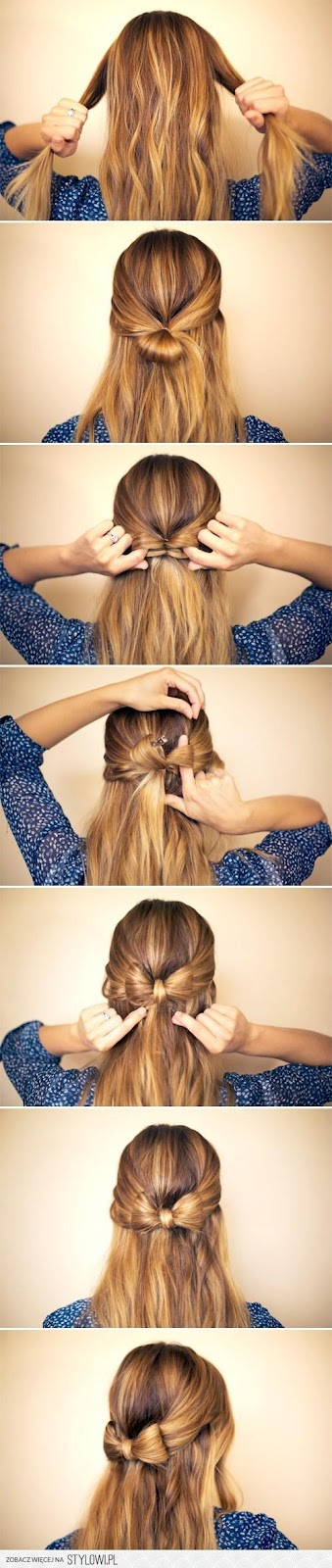 Diy hair bow bun pictures photos and images for facebook tumblr - Secrets In My Heart Szybkie Atwe I Proste Fryzury