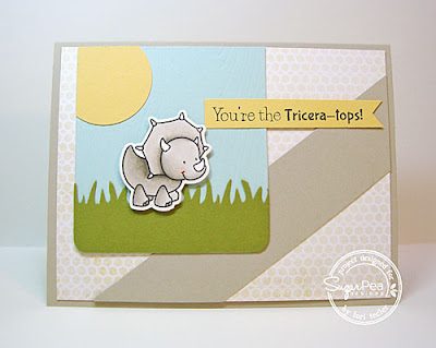 You're the Tricera-tops card-designed by Lori Tecler/Inking Aloud-stamps and dies from SugarPea Designs