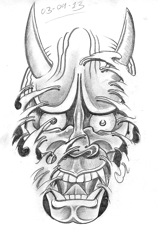 Day 246 Hannya Mask With Waves