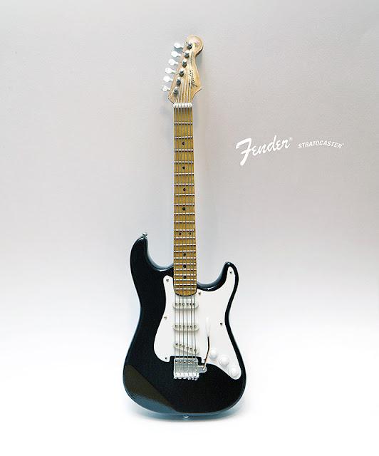 иниатюрная копия гитары Fender Stratocaster. Ручная работа. Hande made. Кирилл Росляков
