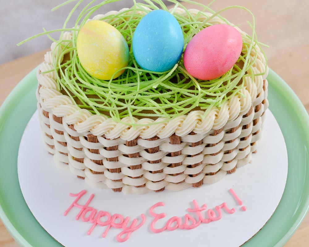 Easter Cake Edible Decorations : Beki Cook s Cake Blog: How To Make a Basket Cake {Video}