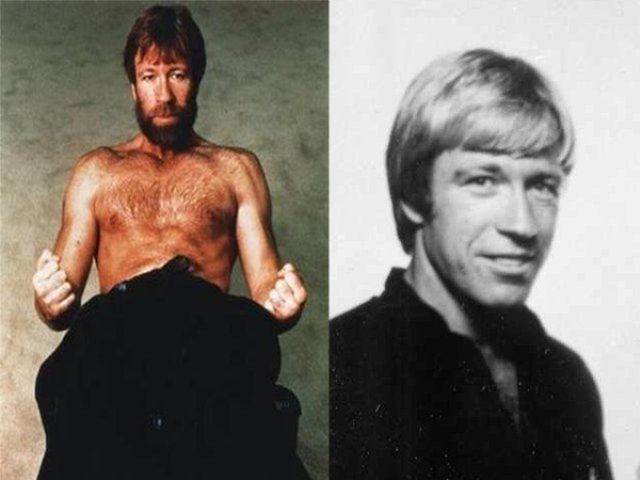 Chuck Norris Without Beard And Moustache