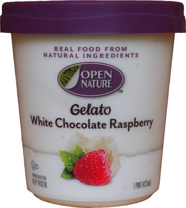 On Second Scoop: Ice Cream Reviews: Open Nature White Chocolate ...