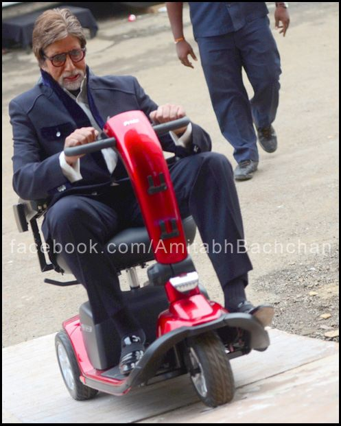 Amitabh Bachchan on Scootie riding