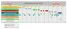 Calendário das provas para o ano de 2017