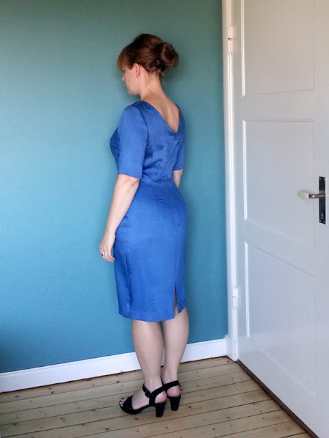 Blue dress cotton sateen | www.stinap.com