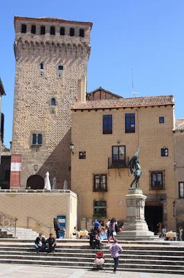 San Martín square in Segovia