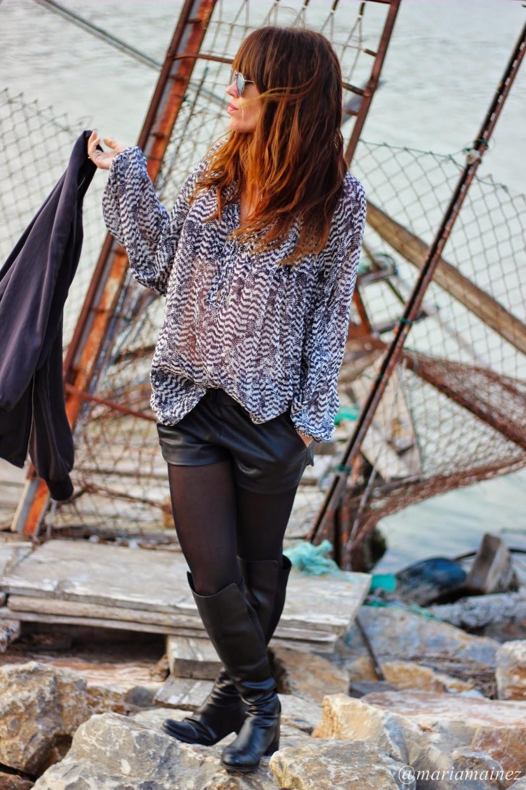 Streetstyle - Fashion blogger - Black&white - Bomber negra - Isabel Marant