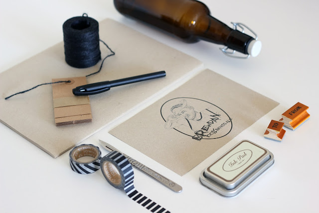 patentkork, ølflaske, DIY, papir, etikett, gavetips, mann, hjemmelaget, fremgangsmåte
