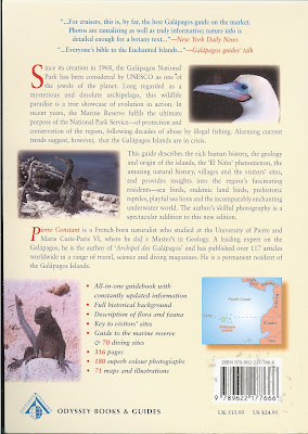 Galapagos: A Natural History Guide by Pierre Constant - Back Cover