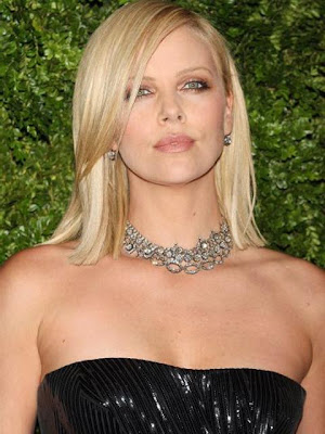 Charlize Theron Gemstone Statement Necklace
