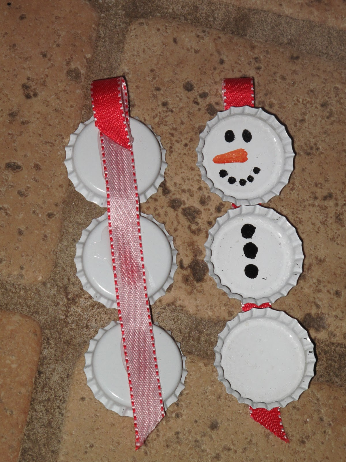 hidden treasure bottle cap christmas ornaments