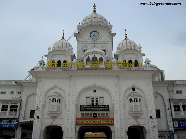 Temple's entrance
