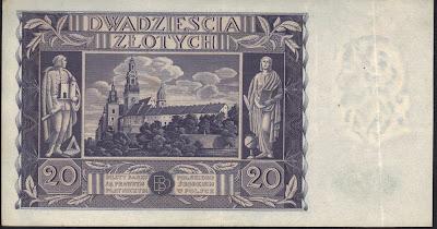 Polonia 20 Zlotych 1936 P# 77