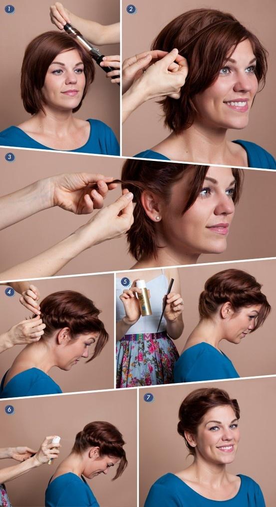 Прическа на короткие волосы фото с челкой в домашних условиях фото