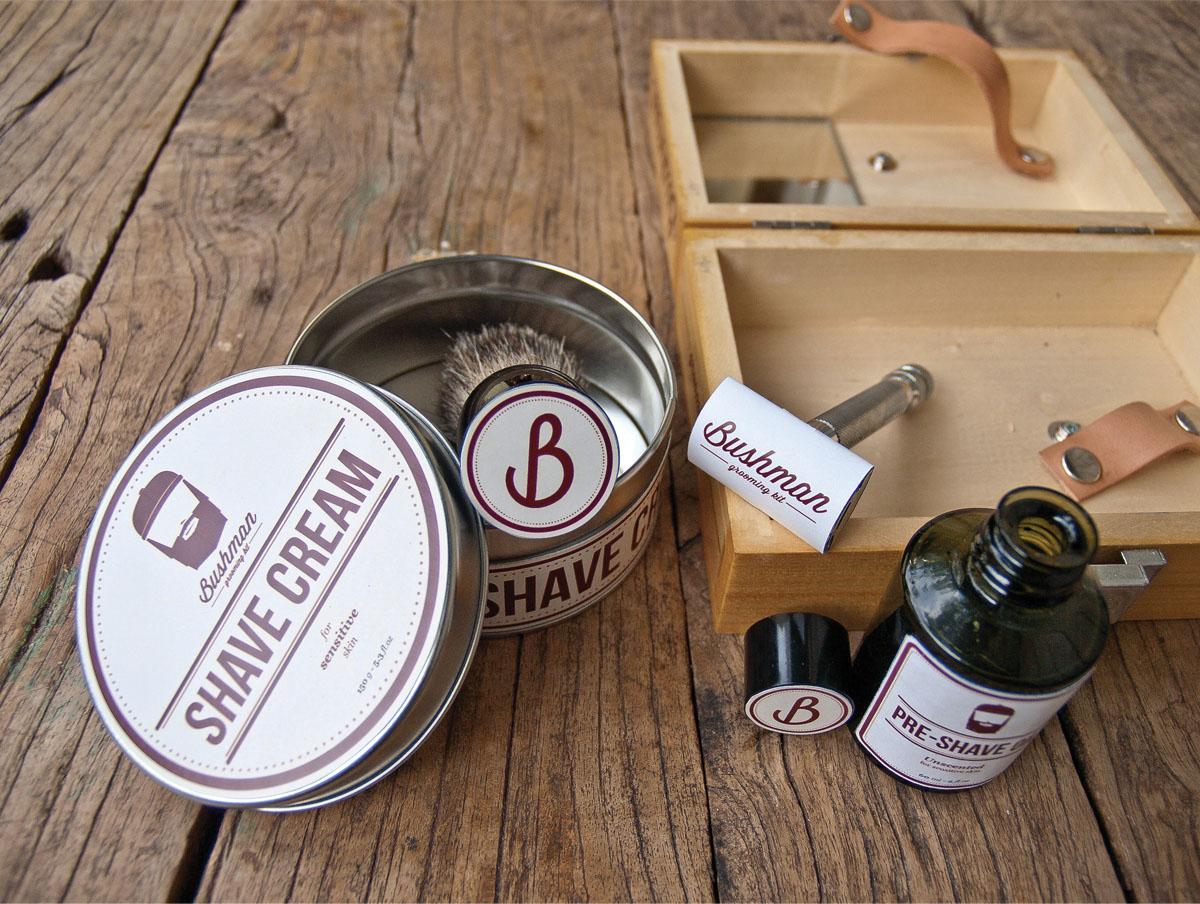 bushman grooming kit student work on packaging of the. Black Bedroom Furniture Sets. Home Design Ideas