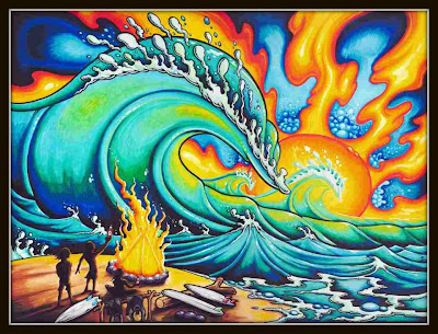 Drew Brophy painting - surf lifestyle artist