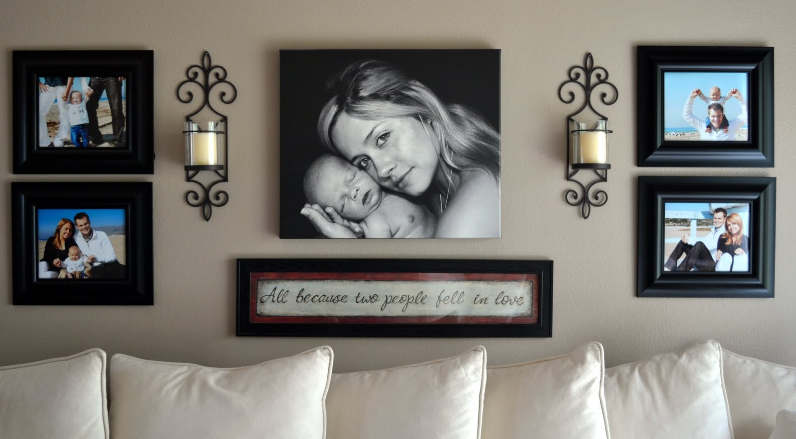 Wall Art Placement Ideas : I spy around the home nest little miss momma