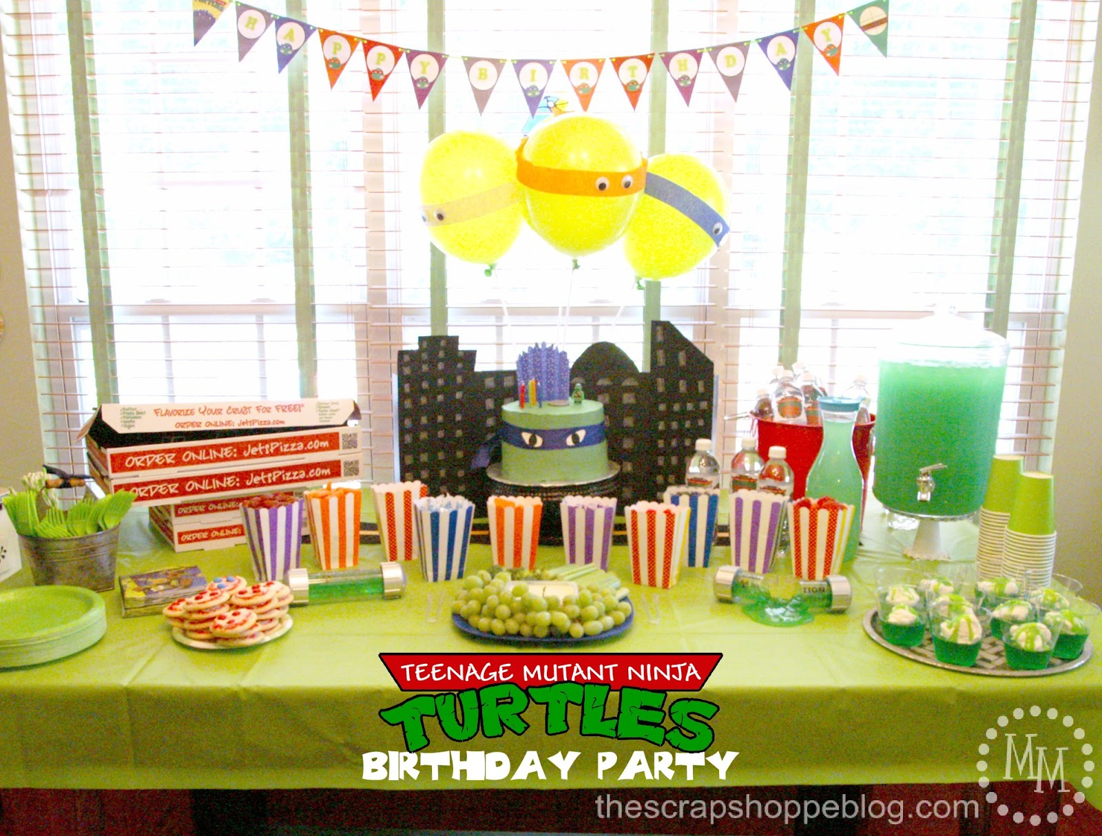 Teenage Mutant Ninja Turtle (TMNT) Birthday Party - The Scrap Shoppe