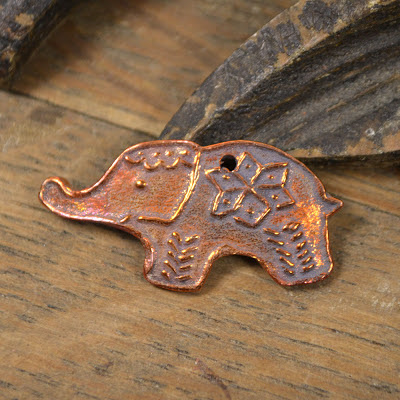 Handmade Copper Elephant Kristi Bowman Design