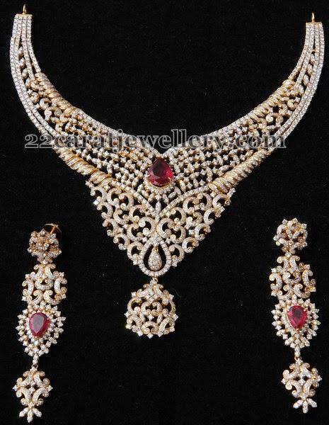 granduer choker by kothari jewelry jewellery designs