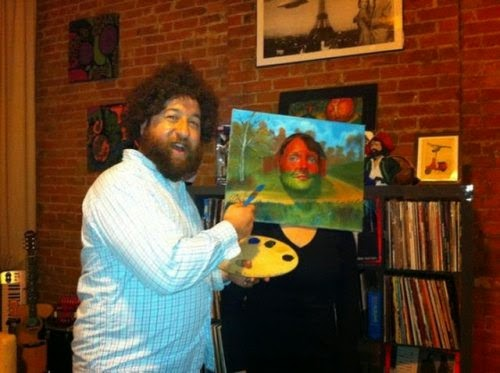 Big Afro Painter Halloween Costume