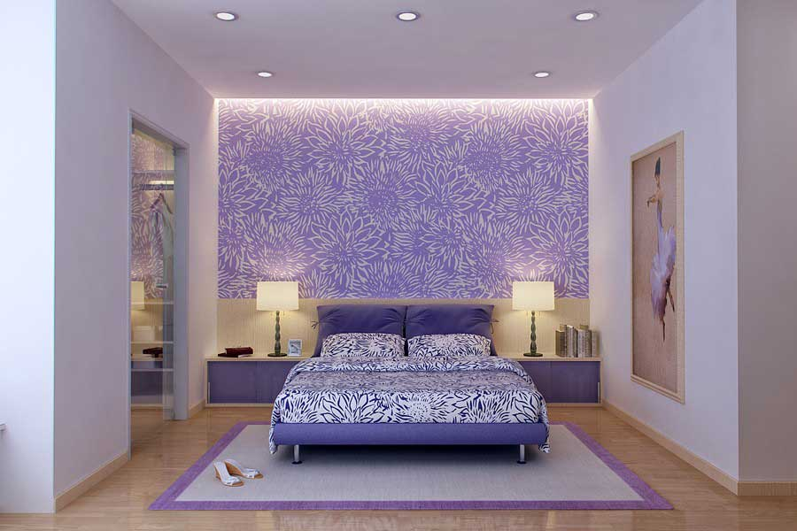 Bedrooms designs hd wallpapers for Bedroom designs with wallpaper