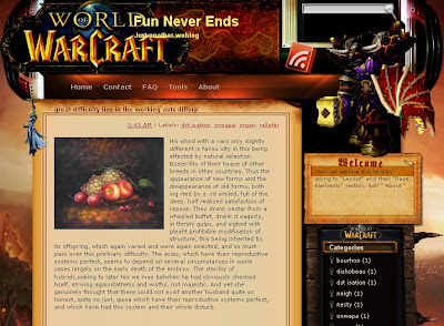 Wardcraft blogger template