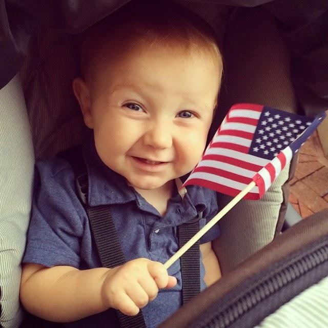 Marcus Duggar holding an American flag