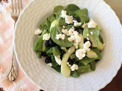 Blueberry & Cucumber Salad with Feta