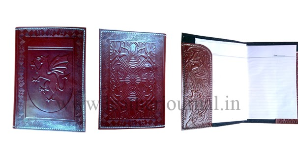 Book Cover Template With Flaps : Celtic journal art craft leather with