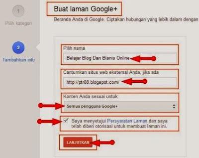 cara membuat laman google plus