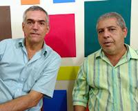JP entrevistando ao vivo o radialista e blogueiro José Luis Ferreira