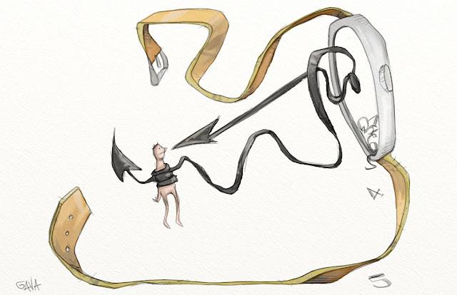 Gava gavavenezia satira vignette illustrazione caricatura fumetto ridere gavagnin marco illustratore disegno  tempo stringe orologio lancette