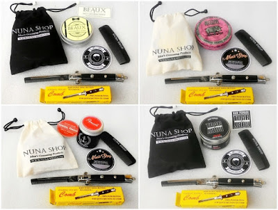Paket Hemat Pomade + Switchblade Comb (SB) + Pouch + Stiker + Sisir Saku