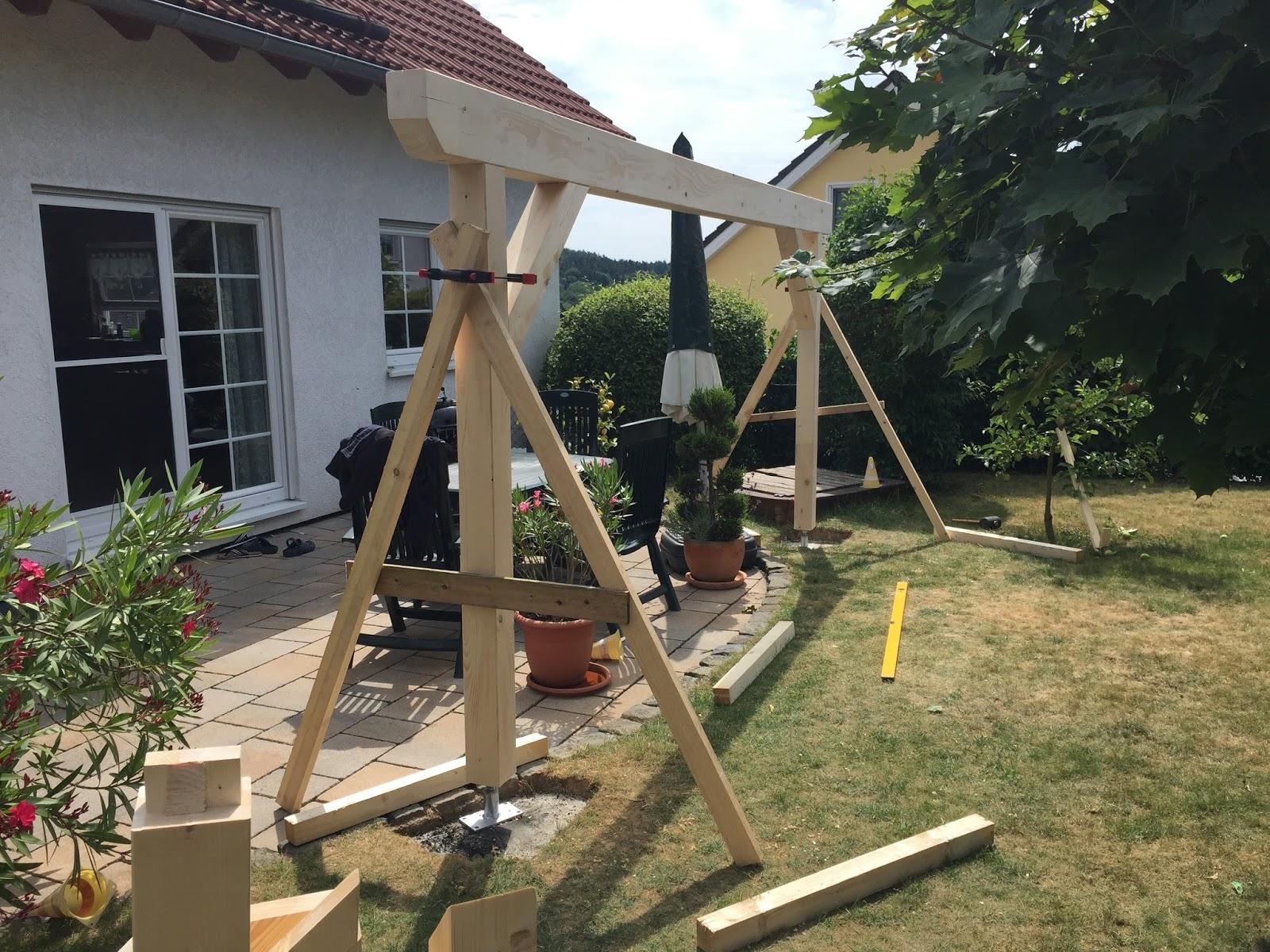 bau einer terrassen berdachung teil 2. Black Bedroom Furniture Sets. Home Design Ideas