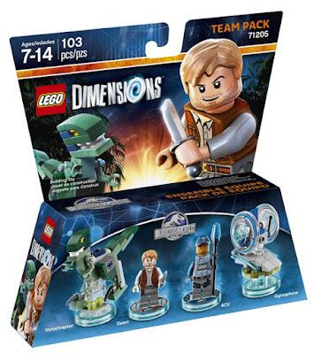 JUGUETES - LEGO Dimensions  71205 Jurassic World Team Pack  Owen & Acu - Velociraptor & Gyrosphere  Figuras - Muñecos Videojuegos   Piezas: 103 | Edad: 7-14 | Comprar en Amazon
