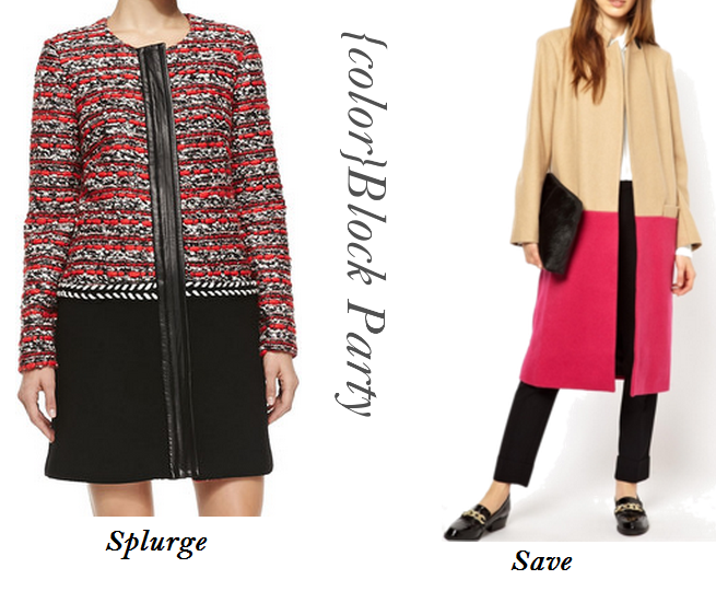 Colorblock Coats, Pink And Beige Coat, ASOS wool coats, Top Fall Fashion Trends