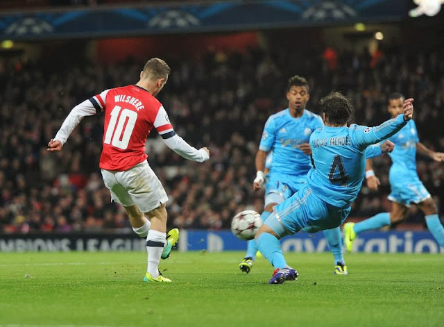Wilshere with a goal