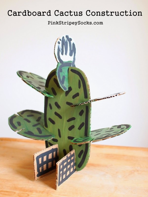 DIY Cardboard Cactus Construction Set