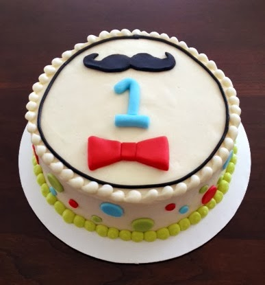 little first birthday smash cake I did recently! Loved the little man ...