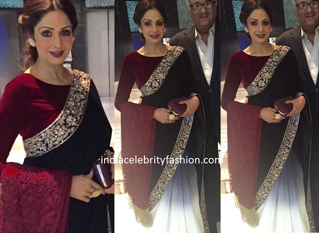 Sridevi Kapoor in Manish Malhotra Saree