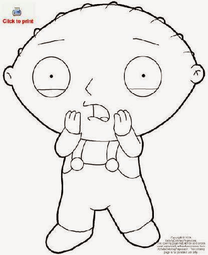 Family Guy Stewie Gangster Coloring Pages Stewie Family Guy Coloring