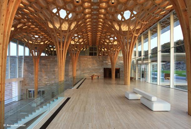 Haesley nine bridges golf clubhouse estructura de madera laminada espacios en madera - Estructura madera laminada ...