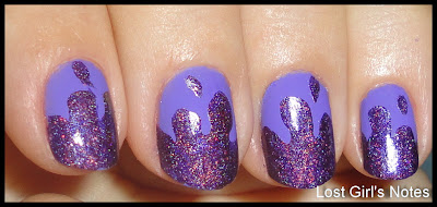 drip purple manicure