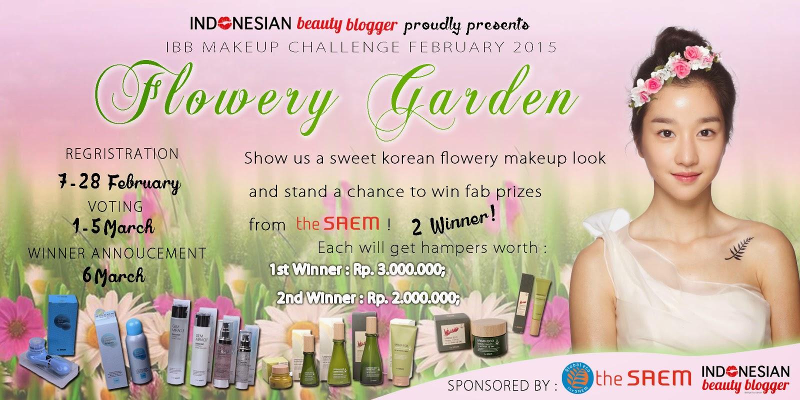 http://indonesianbeautyblogger.com/2015/02/ibb-make-up-challenge-february-flowery-garden/