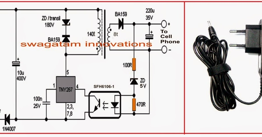 electrical engineering world make your own 220v cell phone charger