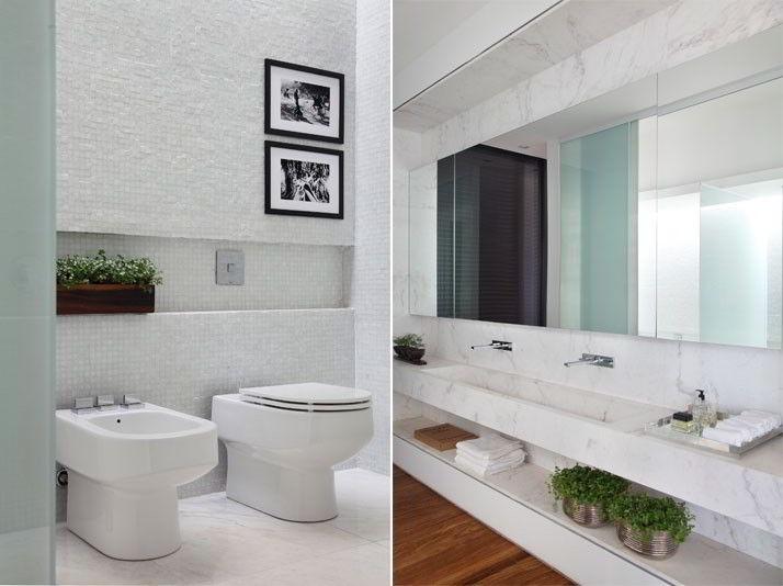 27 banheiros decorados  grandes e pequenos Confira!  Decor Alternativa -> Banheiros Grandes Decorados Com Pastilhas